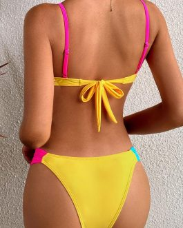 2021 Summer Colorful Patchwork Bikinis For Women