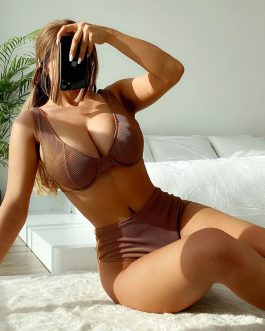 Lady Solid Color High Waist Push Up Swimwear